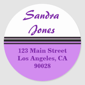 etiqueta de endereço listrada adesivo
