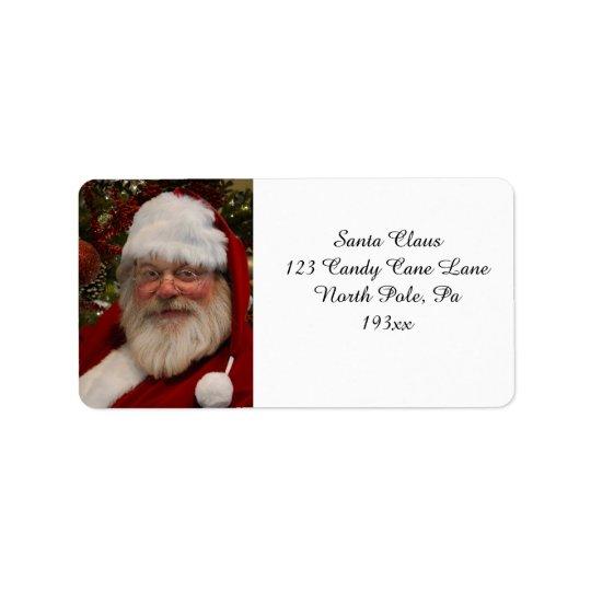 Etiqueta de endereço maravilhosa de Papai Noel