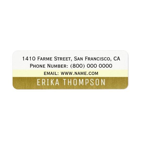etiqueta de endereço moderna básica simples com