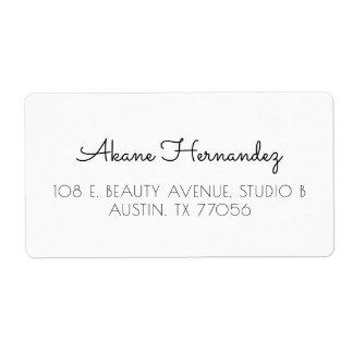 Etiqueta de endereço moderna chique minimalista do