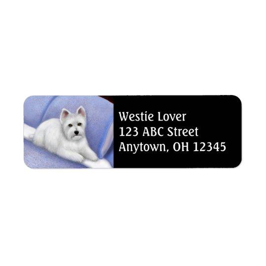 Etiqueta de endereço ocidental de Terrier das