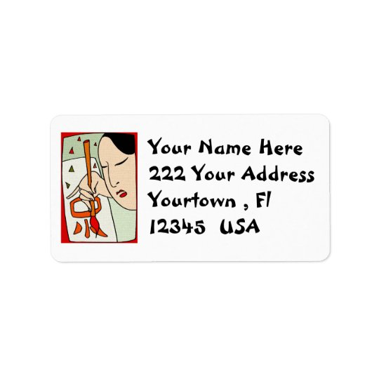 Etiqueta de endereço oriental do design