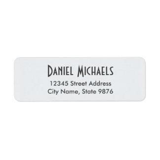 Etiqueta de endereço pessoal moderna - branco