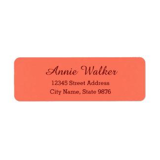 Etiqueta de endereço pessoal moderna - salmão
