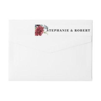 Etiqueta de endereço rústica floral de Boho do
