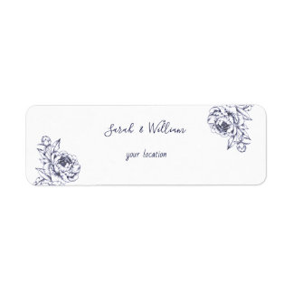 Etiqueta de endereço simples do casamento da