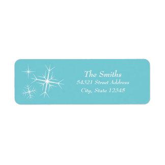 Etiqueta de endereço Sparkling do floco de neve do