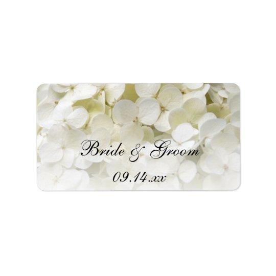 Etiqueta De Endereço Tag florais do favor do casamento do Hydrangea