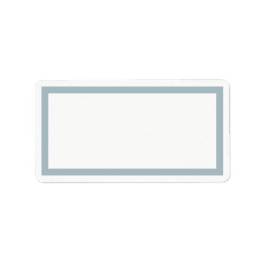 Etiqueta de endereço vazio azul do quadro do ovo