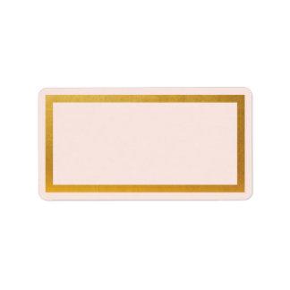 Etiqueta de endereço vazio da folha do falso do