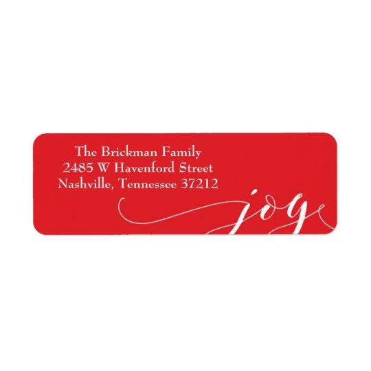 Etiqueta de endereço vermelha do feriado da