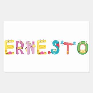 Etiqueta de Ernesto