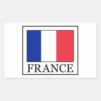 Etiqueta de France Adesivo Retangular