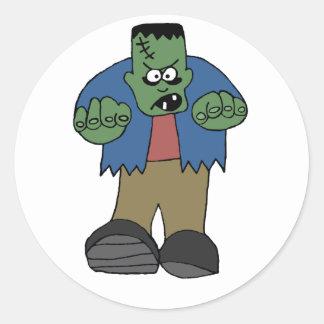 Etiqueta de Frankenstein Adesivos Em Formato Redondos