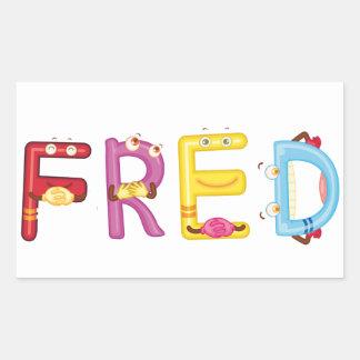 Etiqueta de Fred