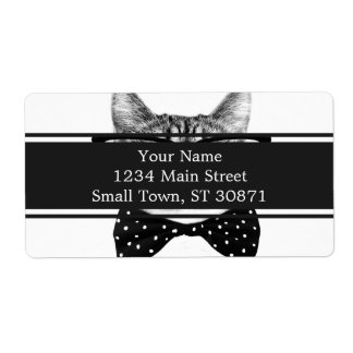 Etiqueta De Frete laço do gato - gato dos vidros - gato de vidro