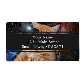 Etiqueta De Frete Vidros do gato - gato dos óculos de sol - espaço