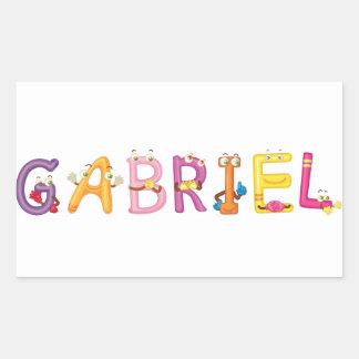 Etiqueta de Gabriel