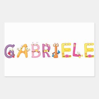 Etiqueta de Gabriele