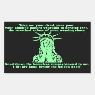 Etiqueta de grito da liberdade
