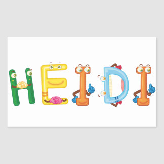 Etiqueta de Heidi