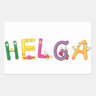 Etiqueta de Helga