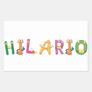 Etiqueta de Hilario