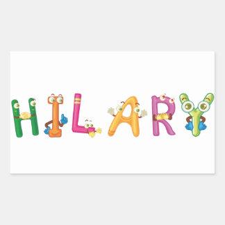 Etiqueta de Hilary