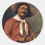 """Etiqueta de Hubert Vos do trovador havaiano"" - Adesivos Redondos"