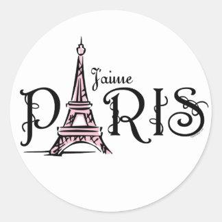 Etiqueta de J aime Paris Adesivos