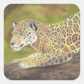 Etiqueta de Jaguar Adesivo Quadrado