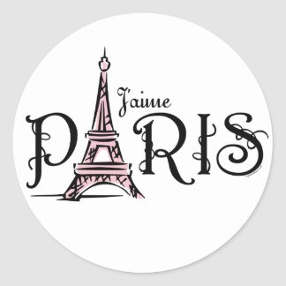 Etiqueta de J'aime Paris Adesivo