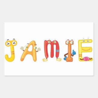 Etiqueta de Jamie