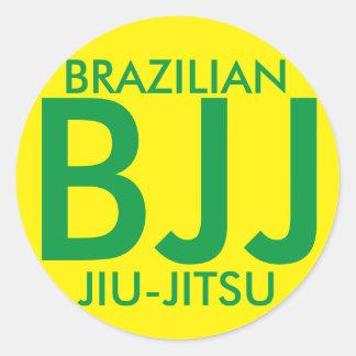 Etiqueta de JIu Jitsu BJJ do brasileiro Adesivo