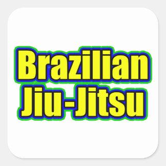 Etiqueta de Jiu-Jitsu do brasileiro Adesivo Quadrado