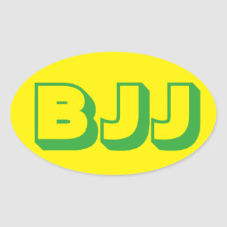Etiqueta de Jiu Jitsu do brasileiro de BJJ Adesivo Oval