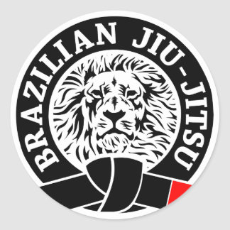 Etiqueta de Jiu-Jitsu do brasileiro (redonda) Adesivos Em Formato Redondos