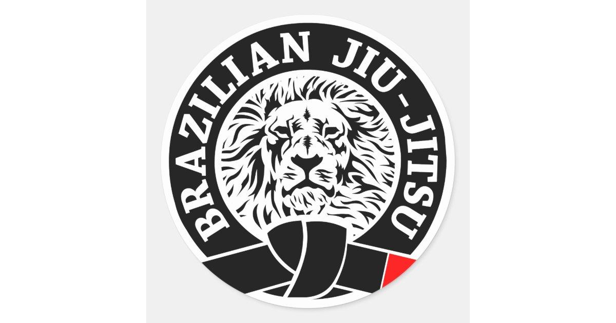 Artesanato Tiradentes Mg ~ Etiqueta de Jiu Jitsu do brasileiro (redonda) Adesivo Zazzle