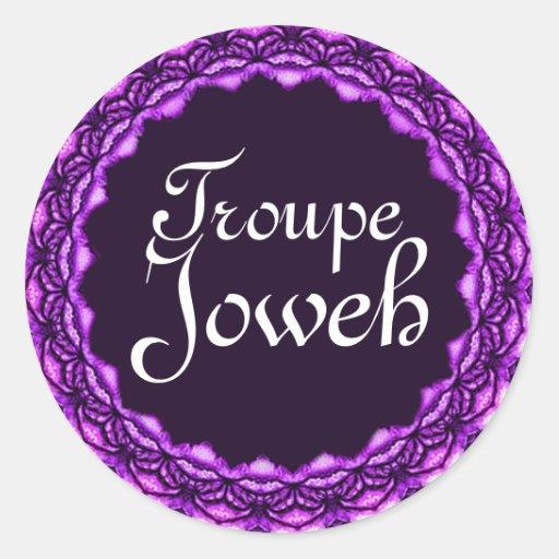 Etiqueta de Joweh do trupe Adesivo Redondo