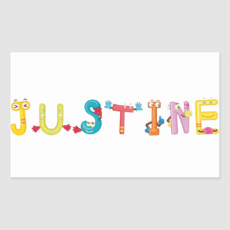 Etiqueta de Justine