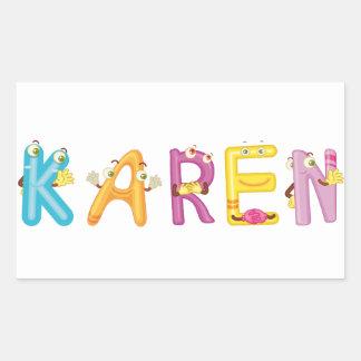 Etiqueta de Karen