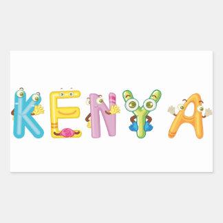 Etiqueta de Kenya