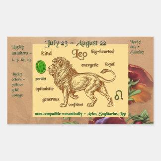 Etiqueta de Leo do zodíaco