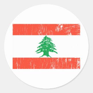 Etiqueta de Líbano Adesivo Redondo