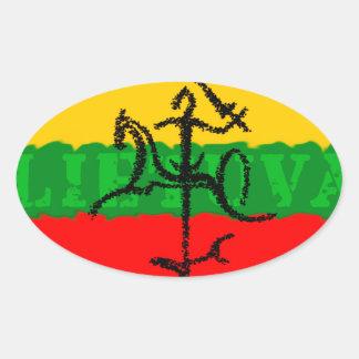 Etiqueta de Lietuva da sombra de Vytis Adesivo Oval
