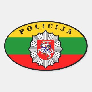Etiqueta de Lietuvos Policija Adesivo Oval