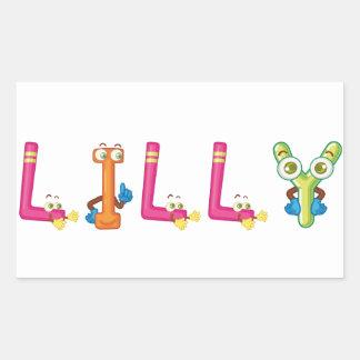 Etiqueta de Lilly