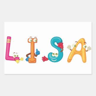 Etiqueta de Lisa