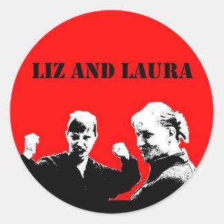 Etiqueta de Liz e de Laura estilo de Che Adesivos