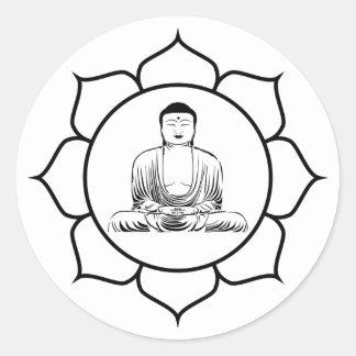 Etiqueta de Lotus da ioga de Buddha